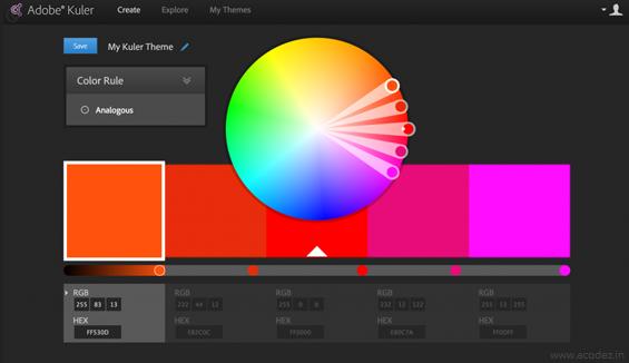 Adobe's Kuler