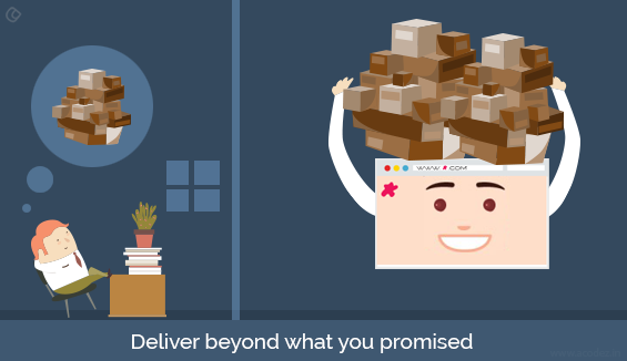 Deliver beyond what you promised