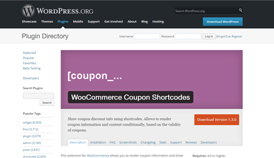 Coupon Shortcodes