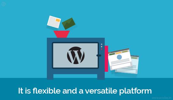It is flexible and a versatile platform