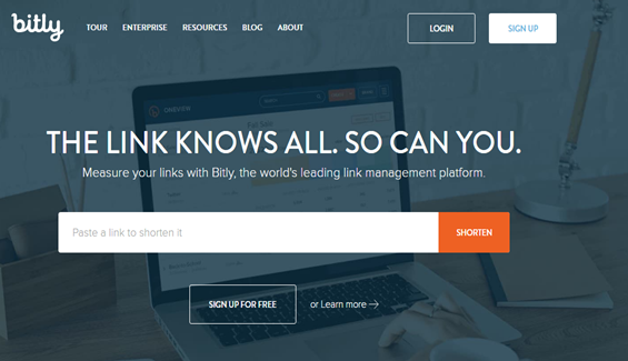 Bitly Tool For URL Shortening