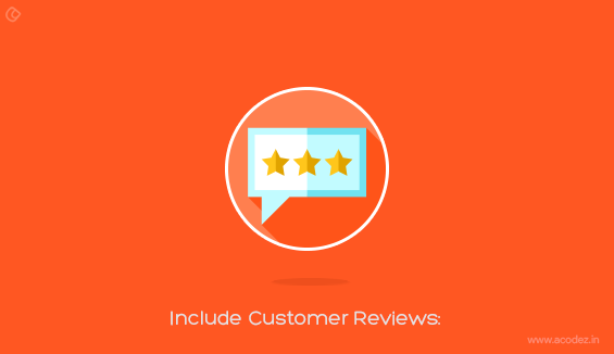 Include Customer Reviews