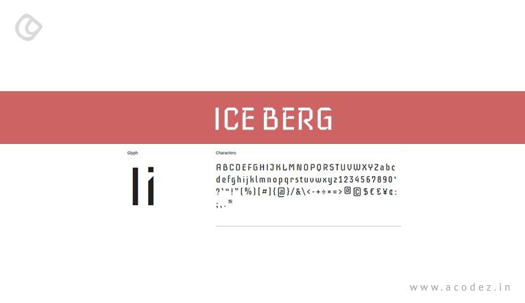 iceberg - Web font