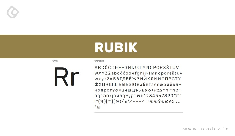 rubik - web font