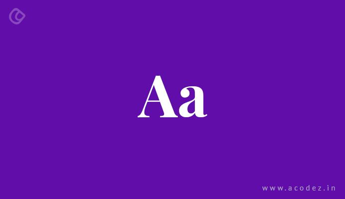 Font Specifics