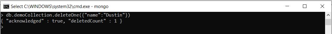 deleta document in mongodb