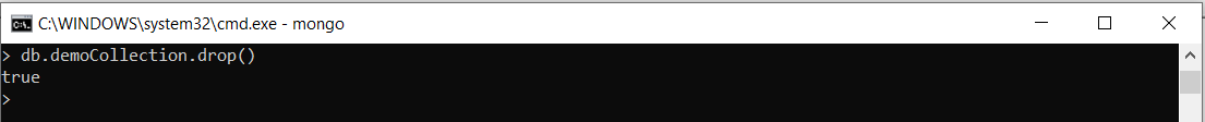 delete document drop command mongodb