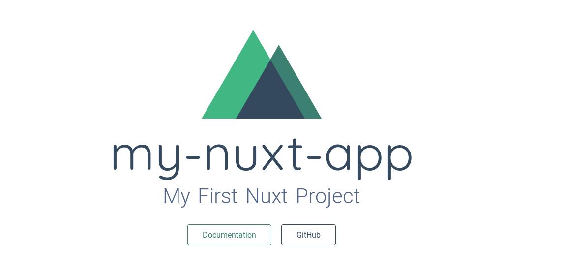plain Nuxt project
