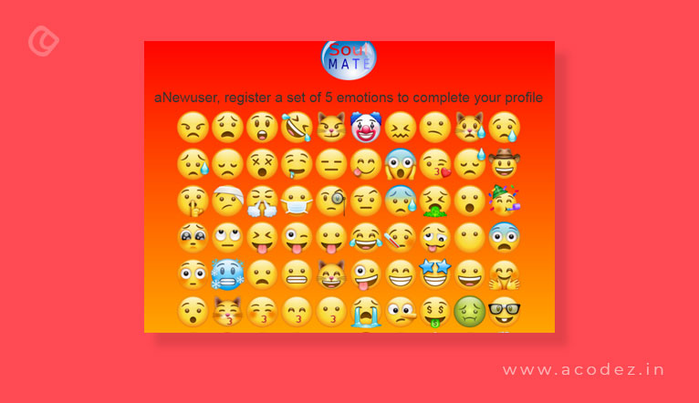 New user select 5 emojis to complete profile
