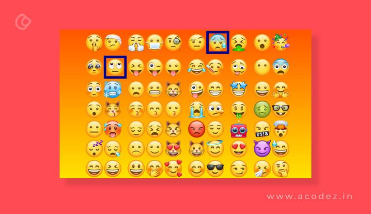 Select emojis
