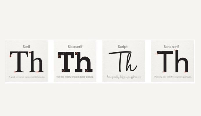 typeface-selection